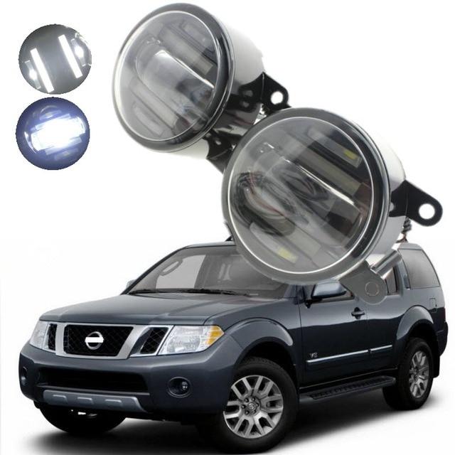 For Nissan Pathfinder R51 2005 2010 2in1 18w Led Fog Lights White Cut Line