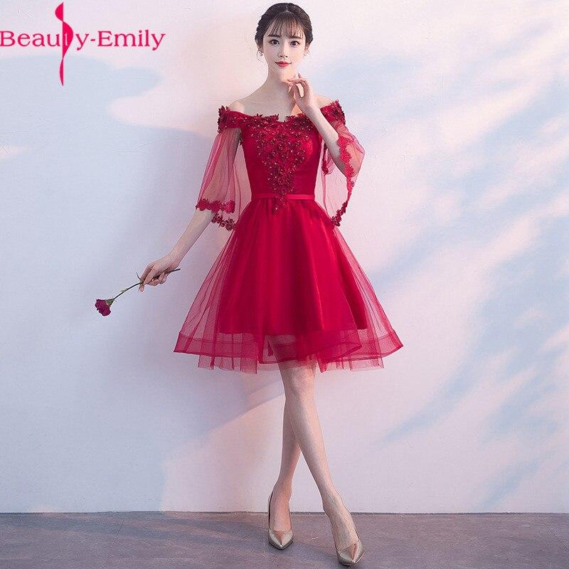 Robes de soirée de charme 2019 une ligne sans manches Appliques dentelle perles rouge femmes Robe de soirée formelle Robe de bal Robe de soirée