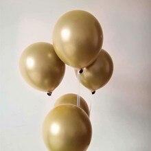 Golden metal baloons 50pcs/lot 10inch double latex eid mubarak helium balloons wedding supplies birthday party globos