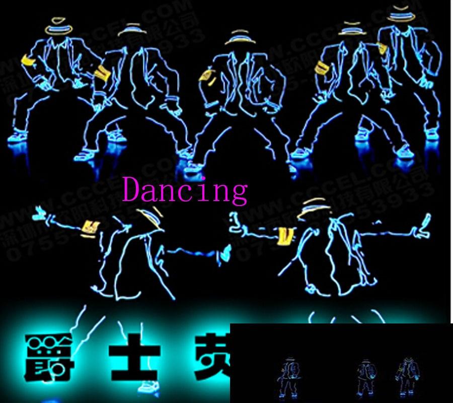 LED T Shirt Light Up Flashing Equalizer EL LED T Shirt Men for Rock Disco Party DJ el wire glowing clothes hip hop for dancing