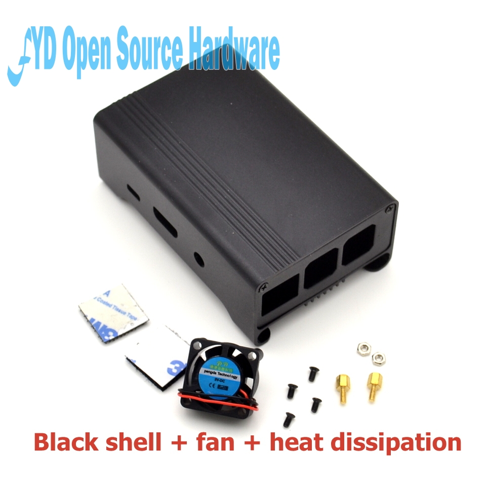 Enclosure Aluminum Case Box With Fan For Raspberry