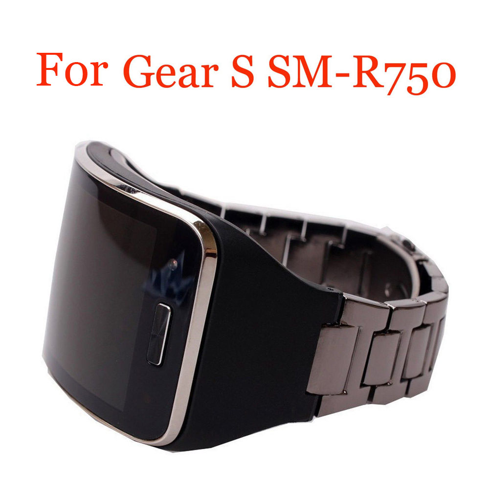 Replacement Metal <font><b>Watch</b></font> <font><b>Bracelets</b></font> Band Strap for Samsung Galaxy Gear S SM-R750 Smart <font><b>Watch</b></font> Band Stainless Steel <font><b>Unisex</b></font> <font><b>Bracelet</b></font> image