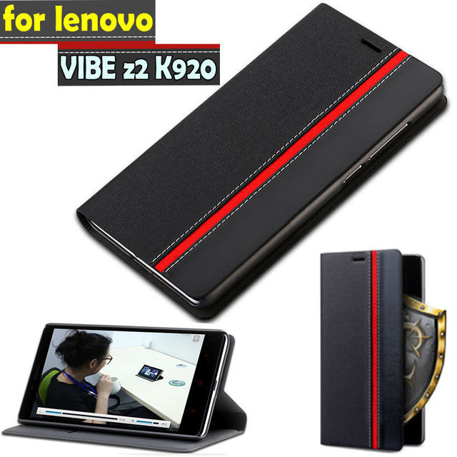 New lenovo vibe z2 Pro Case Ultra thin Leather flip cover for lenovo k920 back cases Wallet Style Stand