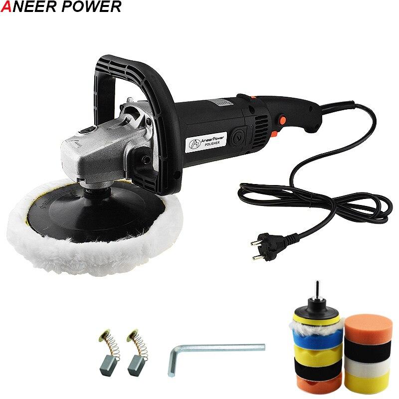 цена на 6 Speed Adjustable 1400W Car Polisher Electric Floor Polisher Polishing Variable Speed Machine Auto Politriz Sanding Machine