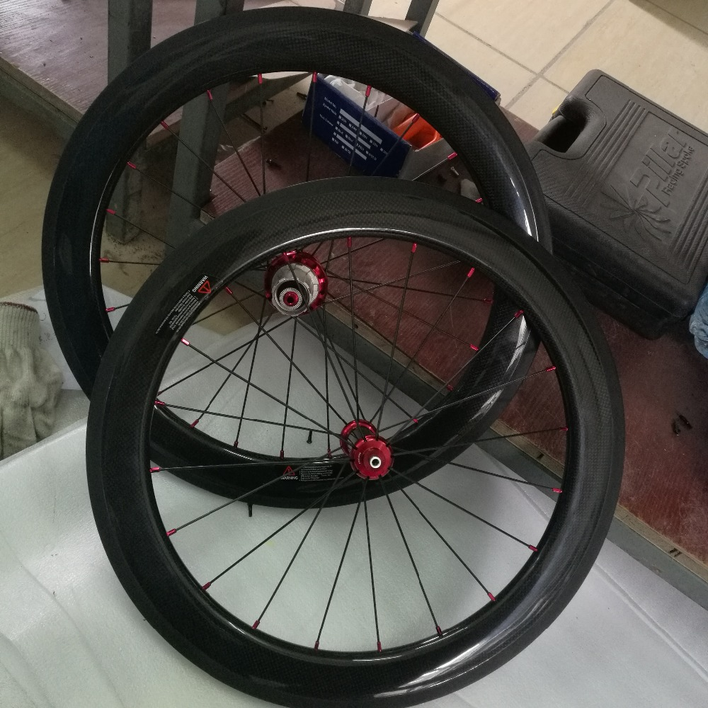 tubular or clincher 50mm wide 23mm 451 carbon <font><b>wheels</b></font> 451 <font><b>BMX</b></font> carbon wheelset clincher <font><b>wheels</b></font> 3k/ud/12k image