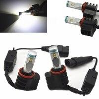 2pcs H7 H8 H9 H11 H16 9005 9006 30W 6000LM Car Headlight Kit Fog lamps 6000k LED Bulb DRL white Driving Daytime Running Light