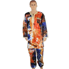 MD african men tops and trousers sets print mens clothing suits 2019 fashion testive costume t shirt dashiki pants