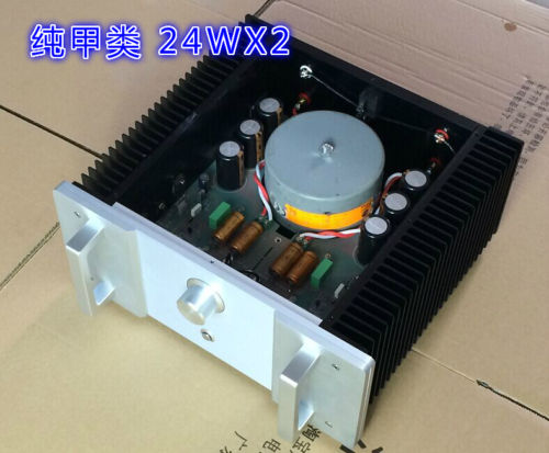 Finished upgraded version HOOD 1969 class A amplifier 24W x2 Crystal field pipe-in Amplifier ...