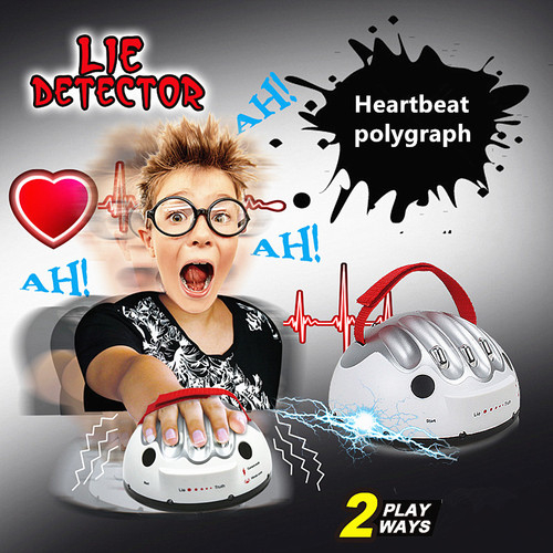 Polygraph Test Tricky Funny Adjustable Adult Truth or Dare Game Electric Shock Lie Detector Liar Shocking Party Game Console Toy