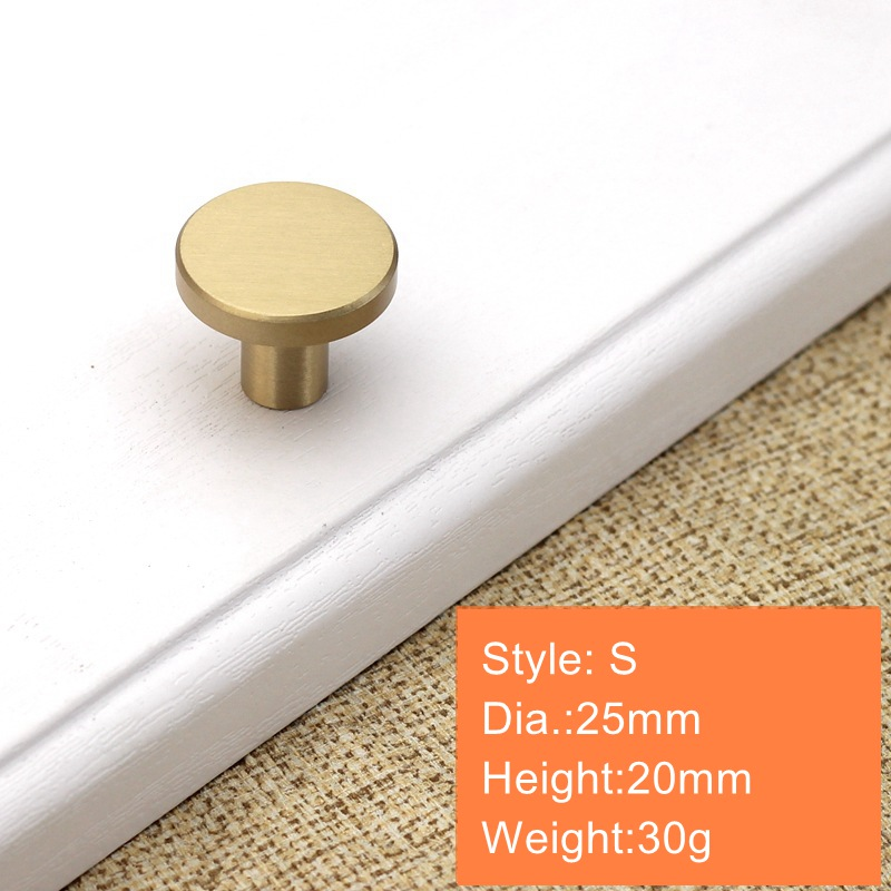 Круглые латунные ящик для буфета ручки Золото шкаф для мебели ручки дверные для шкафа Pulls-1Pack - Color: 25x20mm