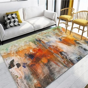 Image 2 - Nordic INS abstract watercolor doodle mat home bedroom bedside entrance elevator floor mat sofa coffee table anti slip carpet