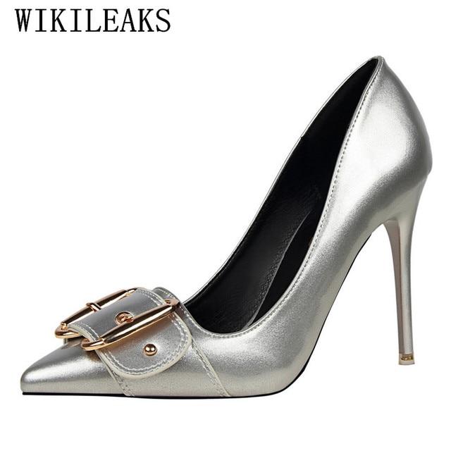 94938c7e3 Bling bling sapatos de casamento mulher bombas couro de patente designer de  luxo da marca sapatos