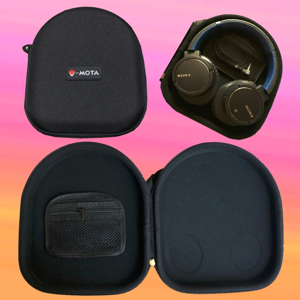 V-MOTA PXA Headphone Carry case boxs For SONY MDR-ZX600 MDR-ZX750 MDR-XB550AP MDR-ZX770AP, JVC HA-S600 HA-S700 HA-S660 headphone наушники sony mdr xb550ap накладные черный проводные