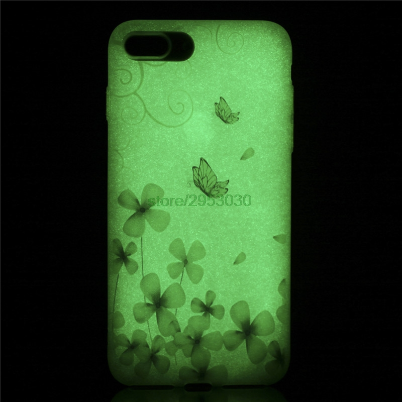 Soft TPU Cover For Apple iPhone 7 Plus 7Plus 5.5 Slim Cute Fluorescence Silicone Phone Cases for iPhone 7 iPhone7 i7 Bags
