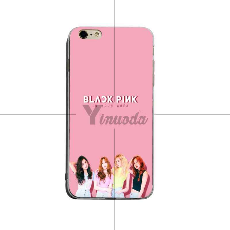 Yinuoda 黒ピンク BLACKPINK k-ポップ kpop コラージュソフト tpu 電話ケースカバー iphone X XS XR XsMax 8 プラス 6 s 7 7 プラス Mobilecover
