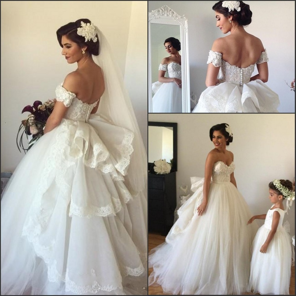 2016 New Spring Sweetheart Princess Ball Gown Wedding Dresses with ...