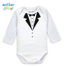 Mother Nest Brand 2014 Fashion Autumn Fisher Long Sleeve Gentleman Bodysuits Baby Costume Newborn Clothing for Babies Boy Body(China)