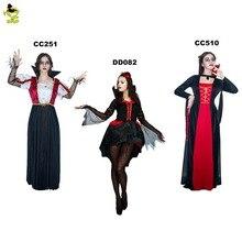 2017 Women's Devil Vampire Costumes For Women's Sexy  Halloween Costumes  Black Evil Queen Costume Party Cosplay Dress