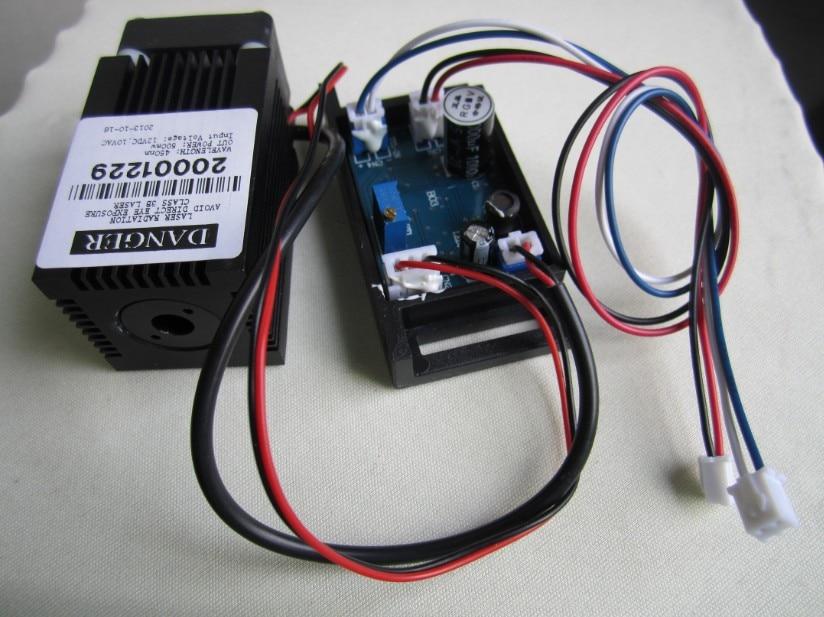 ΝΕΟ 12V 445nm ~ 450nm 500mW Μονάδα μπλε λέιζερ Modular λέιζερ Blue-Ray Blue-Violet + ανεμιστήρας