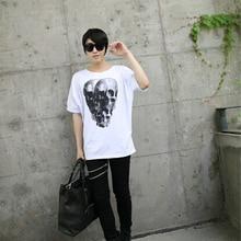 New Arrival Skeleton Demon Dark Theme Loose Novelty T Shirt Car Tshirt Men Brand Clothing Justin