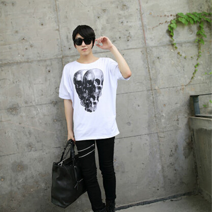 New Arrival Skeleton Demon Dark Theme Loose Novelty T font b Shirt b font Car Tshirt