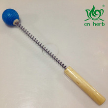 Cn Herb Wooden hammer spring massage device manual stick beating leg