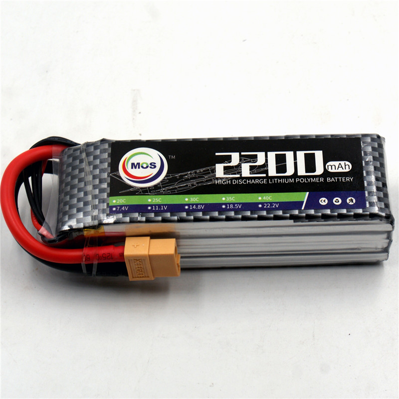 MOS 3S RC Airplane LiPo Battery 3S 11.1V 2200mAh 30C Rechargeable for RC Helicopter Car Boat Quadcopter Li-Polymer batteria gdszhs rechargeable 3s lipo battery 11 1v 2200mah 25c 30c for fpv rc helicopter car boat drone quadcopter href