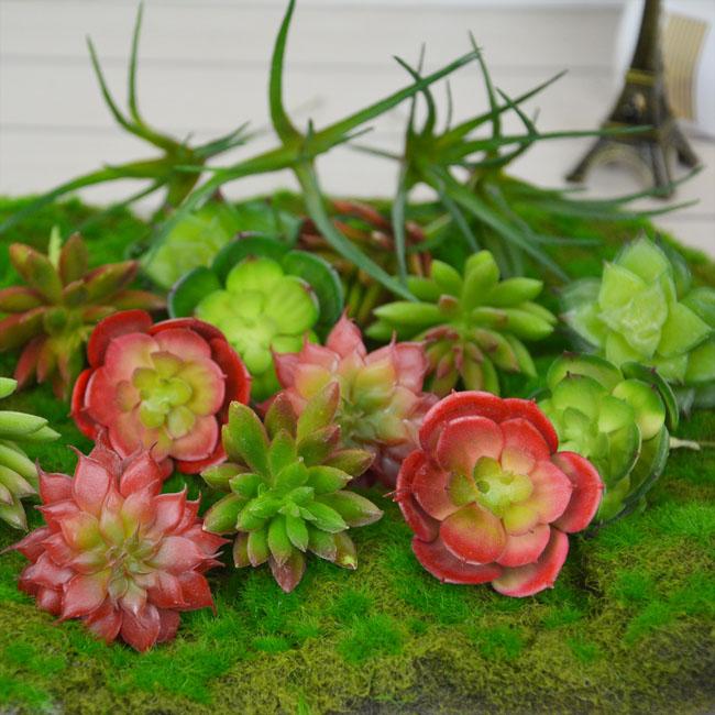8Kinds Rare Succulent Plants Artificial Echeveria Plant Landscape Grass DIY Pot Fake Flower Home/Wedding Flores Artificiales