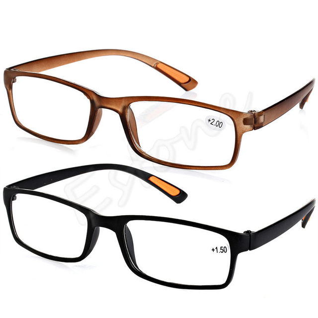 Unisex Comfy Black Brown Resin Framed Reading Presbyopia Glasses 1.00 1.50 2.00 2.50 3.00 3.50 4.00 Diopter 2 colors hot