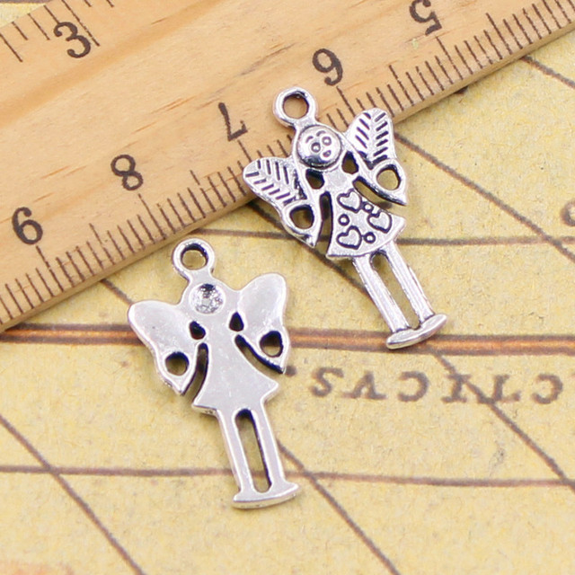 10pcs charms guardian angel girl 2514mm tibetan silver plated 10pcs charms guardian angel girl 2514mm tibetan silver plated pendants antique jewelry making diy aloadofball Image collections