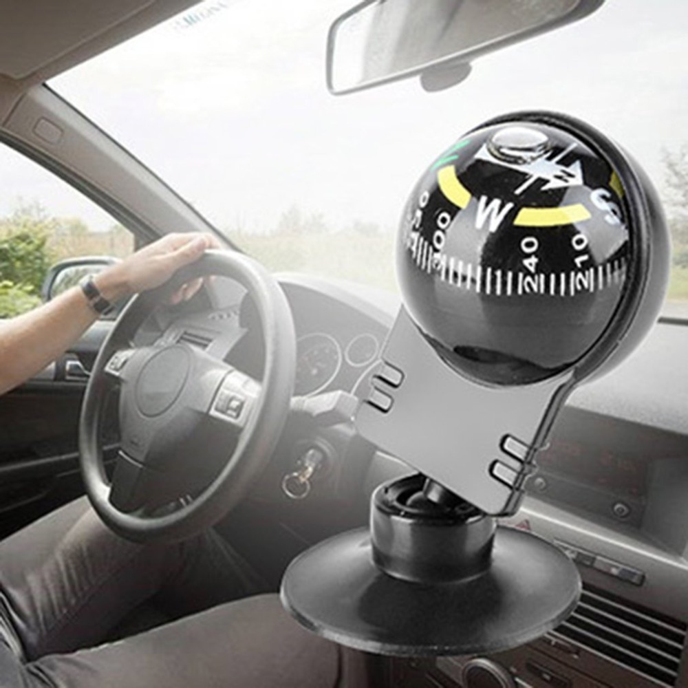Vehicle Mounted Compass Direction Adhesive Compasses Auto Spherical w