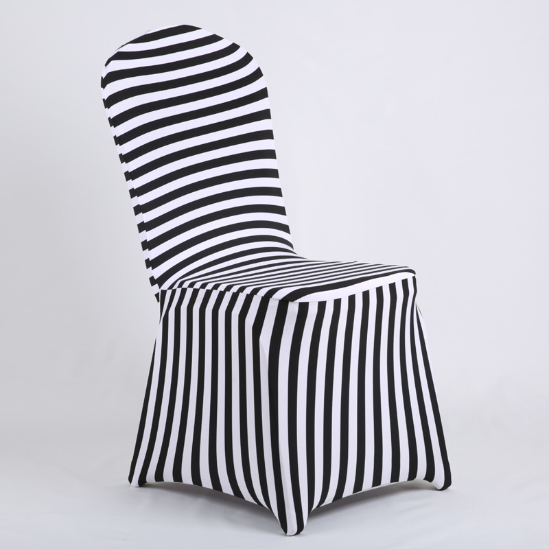 Fine Us 29 08 Ymqy Chair Cover Black And White Stripes Printed Chair Cover Stretch Chair Cover Banquet Meeting Hotel Wedding Couvre Chaise In Chair Cover Unemploymentrelief Wooden Chair Designs For Living Room Unemploymentrelieforg