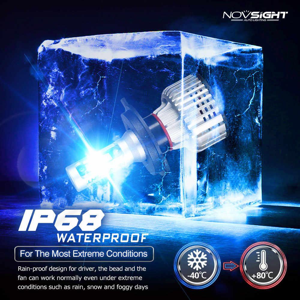NOVSIGHTH4 LED H7 Car HeadLight Bulbs H11 H8 9006 HB3 9005 H1 10000LM Auto Headlight 6000K 12V led Bulbs Car Accessories