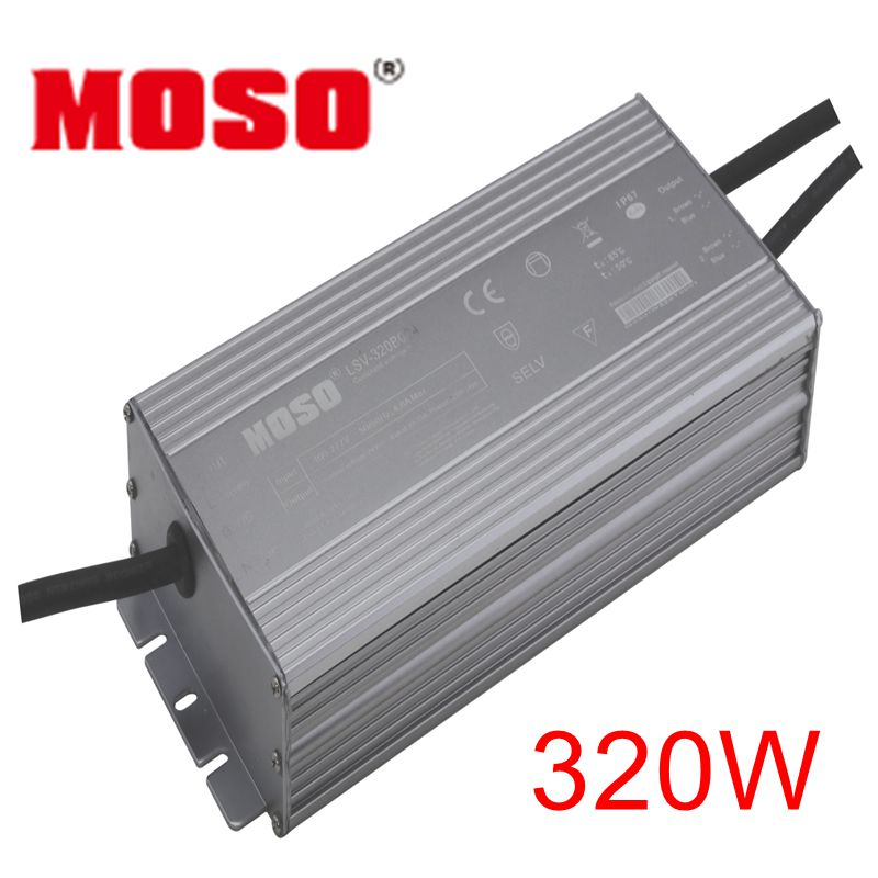 320W 24VDC MOSO LSV constant voltage LED driver IP67 water proof  with AL case  for outdoor lights power supply 10pcs a lot kvp 24200 td 24v 200w triac dimmable constant voltage led driver ac90 130v ac170 265v input