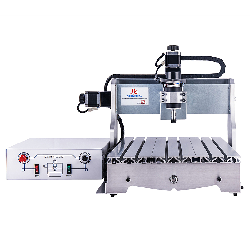 CNC Router 3040 T-D300 milling Lathe machine with 300W DC power spindle motor upgraded from CNC 3040 engraver new design 3040 cnc frame cnc 3040 mini lathe free tax to ru eu