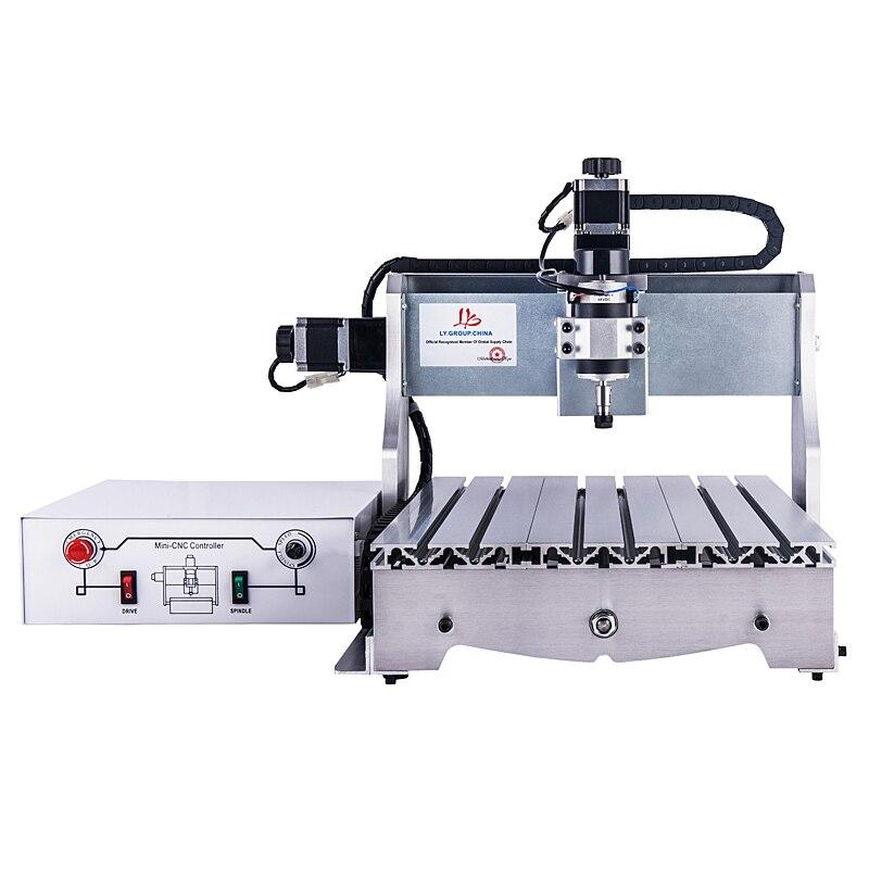 CNC routeur 3040 T-D300 tour machine avec 300 W DC moteur de broche de puissance mis à niveau de CNC 3040 graveur