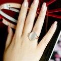 Бесплатная Доставка Italina Rigant Розового Золота австрийский хрусталь Моды Кольцо Опал Ювелирные Изделия оптом для женщин Подарок
