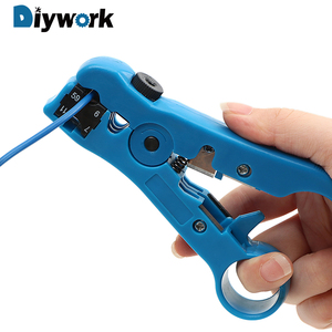 DIYWORK Electric Stripping Tools Cutter Striper for UTP/STP RG59 RG6 RG7 RG11 Cable Wire Pliers(China)