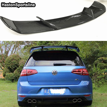 цена на Golf 7 MK7 Revozport Style Carbon Fiber Auto Car Roof Spoiler Wing for Volkswagen VW Golf VII Golf7 GTI With R Only