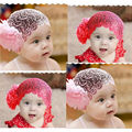 Free Shipping 2 Colors Kid Girl Newborn Baby Elastic Headband Flower Hairband Hair Accessories