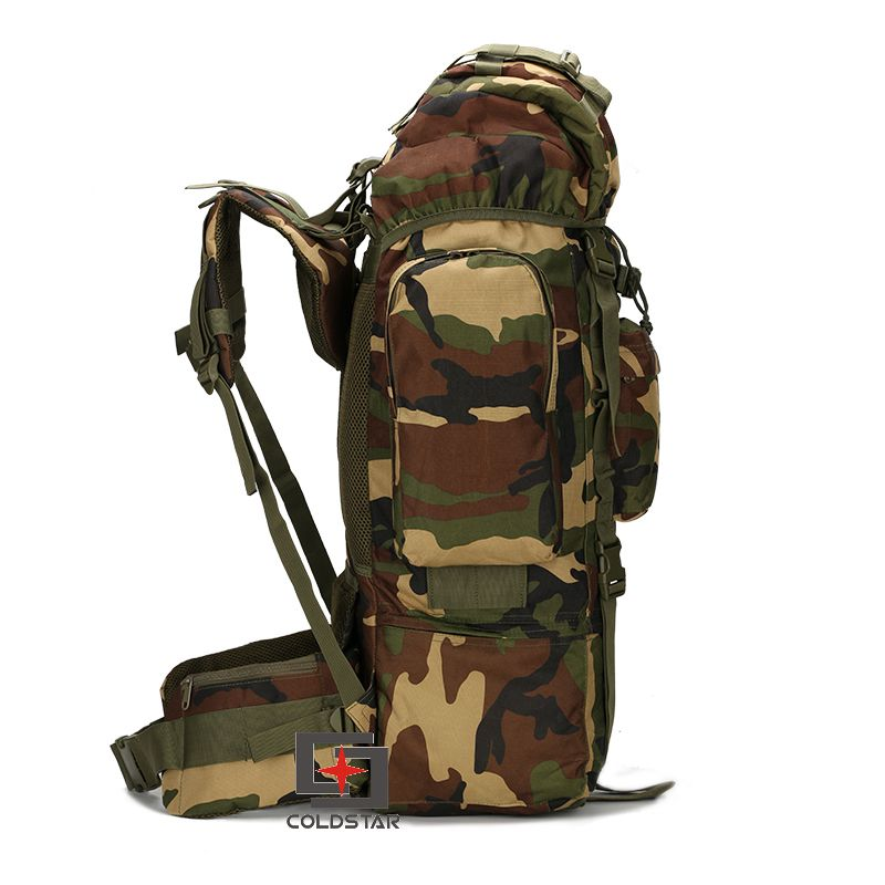 ФОТО New Arrival 65L Large Capacity Mountaineering Bag High quality Outdoor Backpack Waterproof Travel Hiking Camping Tactical Bags