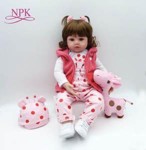 1f1f0f091330 NPK bebes reborn Silicone reborn baby girl kid lol doll