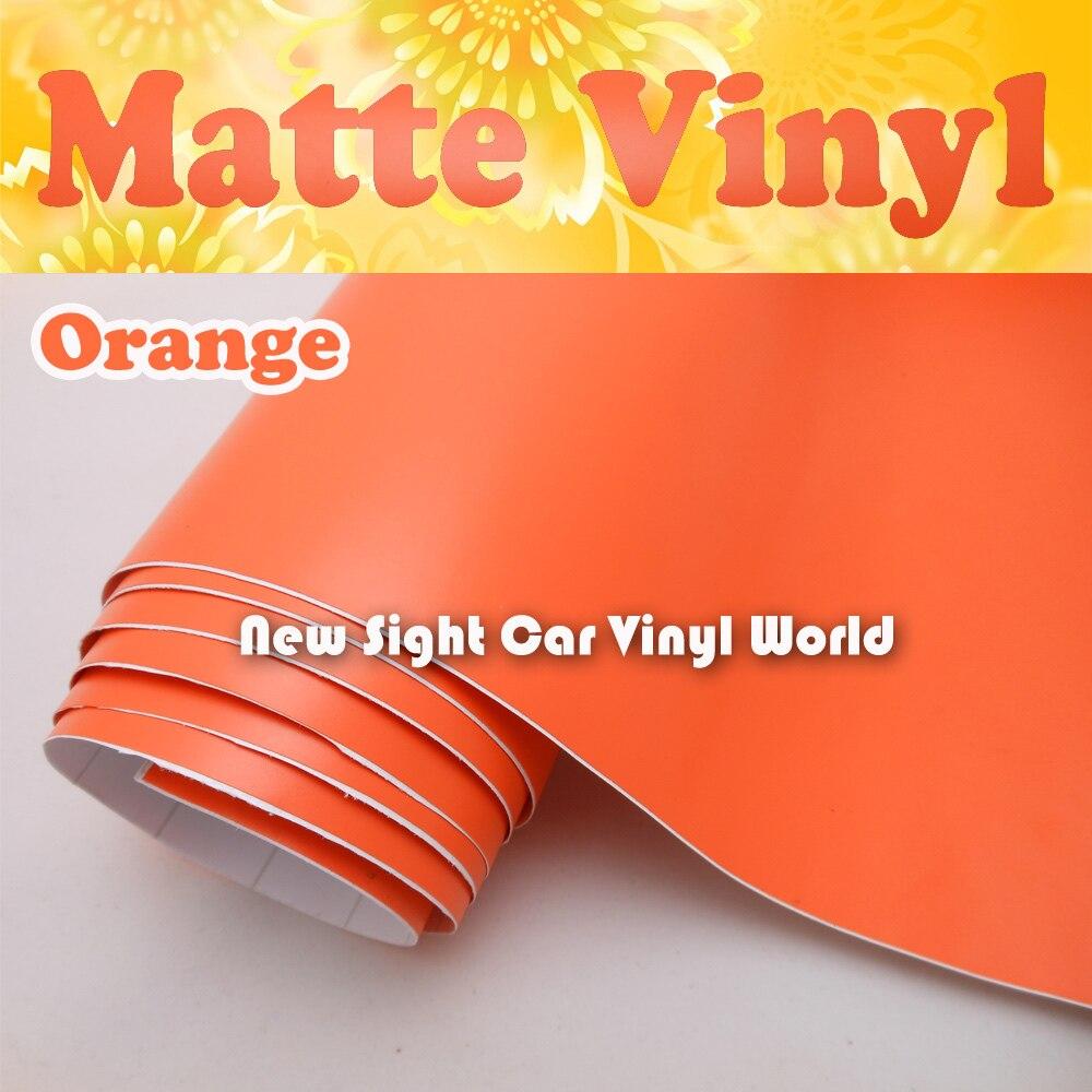 Haute Qualité Orange Mat De Voiture de Vinyle Rouleau Bulle D'air Libre Pour L'emballage de Voiture Taille: 1.52*30 m/Rouleau