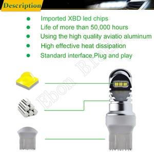 Image 3 - 1 X T20 7440 W21W WY21W 7443 W21/5W XBD Chip 30W LED Front Tail Turn Signal Brake Reverse Light DRL Bulb White Amber RED 12v 24v