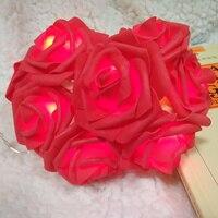 5 mètre 40 rouge rose guirlande avec led lumière pour l'événement de mariage light party décoration, floral lumière décoratif, arrangement de fleurs