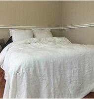 Белый Помытый льняной пододеяльник King size чистое постельное белье детское постельное белье 96 x 108 Funda Nordica Cana покрывало для кровати
