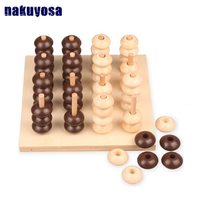 16 group three dimensional four chess Montessori Learning Material Toys Puzzle Science Educational Toy