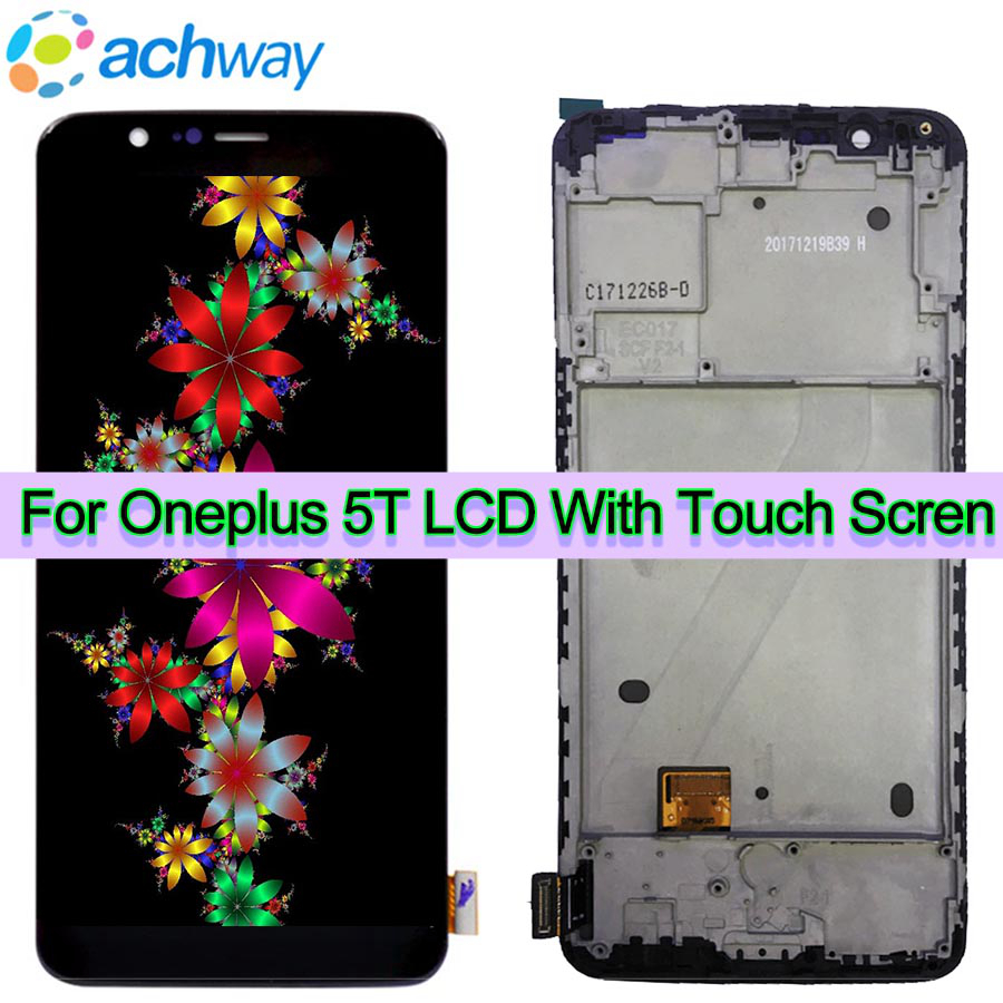 100% Testé Oneplus 5 t LCD Affichage Écran Tactile Panneau Assemblée Complet Oneplus 5 t A5010 Cinq 5 t LCD digitizer Affichage + Outils