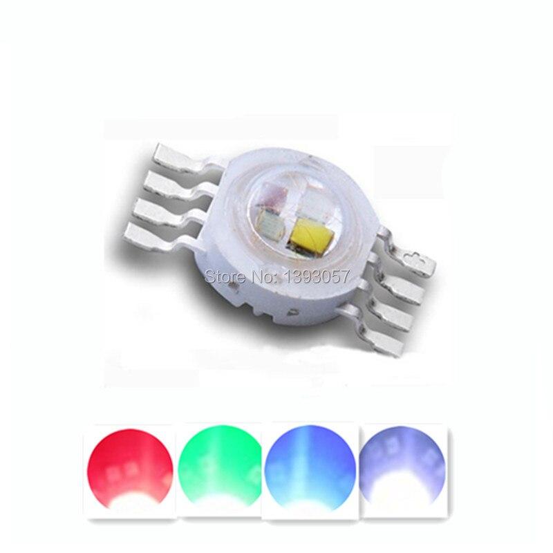 10-100 PCS RGBW LED Diode 8 pins High Power LED Chip 4 watt Bunte vier core quellen DIY form LED Bühne lichter perlen