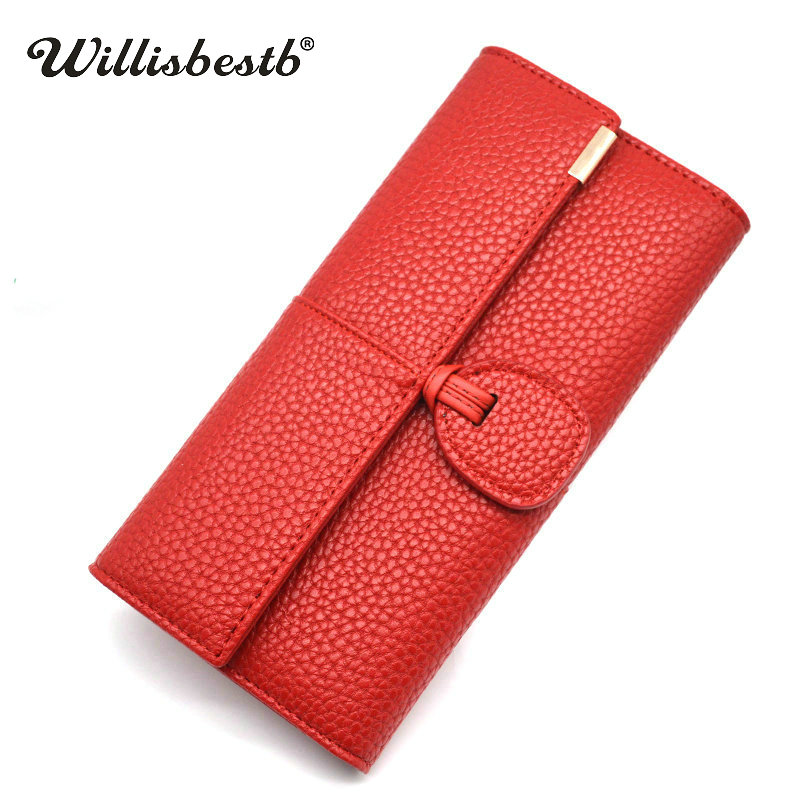 2018 New Phone Pocket Luxury Wallets Women Brand Lady Purses For Leather Clutch Long Hasp Woman Wallet Female Purse Card Holder